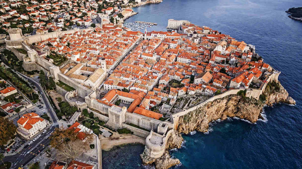 dubrovnik from air